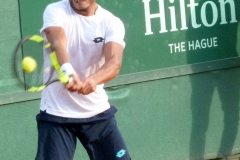Alessandro Giannessi hits a backhand