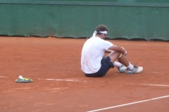 Alessandro Giannessi after a killer net ball cost him a point