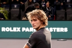 Alexander Zverev looking at the camera waiting for interview