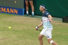 Andreas Seppi hits a forehand