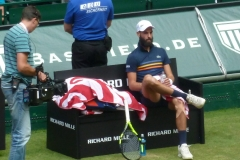 Benoit Paire chillin out between games