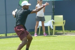 Donald Young ready to whack a forehand