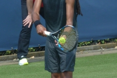 Dustin Brown ready to serve