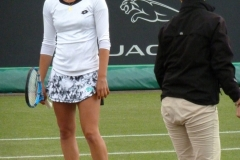 Elise Mertens unhappy after umpire decides to continue play during light rain