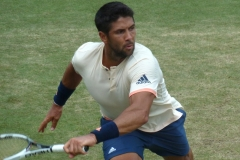 Fernando Verdasco rushes to save a point