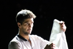 Fernando Verdasco during pre-match routine