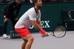 Fernando Verdasco preparing to return