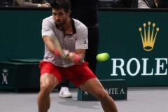 Fernando Verdasco hitting a backhand