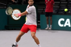 Fernando Verdasco lining up a backhand