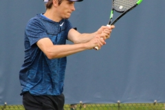 Filip Horansky hits a backhand