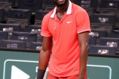 Frances Tiafoe not happy with himself