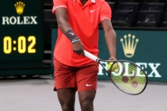 Frances Tiafoe serving
