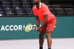 Frances Tiafoe awaiting serve