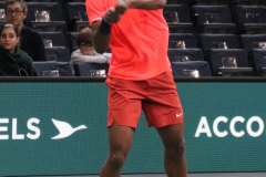 Frances Tiafoe backhand shot