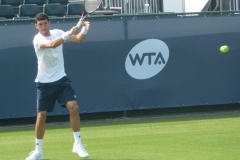 Franko Skugor warming up the forehand