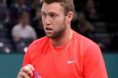 Jack Sock in between games