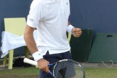 Jeremy Chardy pumped after winning a point