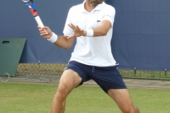 Jeremy Chardy lines up a forehand return