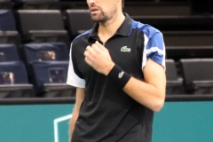 Jeremy Chardy during warm-up