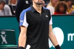 Jeremy Chardy unhappy after an umpire decision