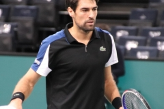 Jeremy Chardy getting ready to play