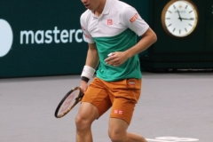 Kei Nishikori after a rally