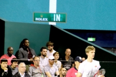 Kevin Anderson sees the result of a challenge