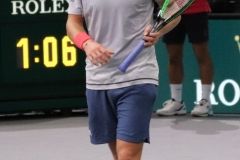 Lucas Pouille disappointed after a miss