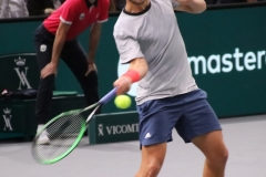 Lucas Pouille hitting a forehand