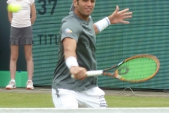 Malek Jaziri volley warm-up