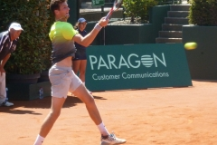 Manuel Guinard hammers a forehand