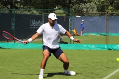 Marcos Giron lining up a forehand