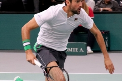 Marin Cilic sprints to the net
