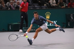 Novak Djokovic in an ultimate attempt to save a point