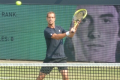 Richard Gasquet volley warm-up