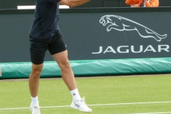Richard Gasquet hits a return forehand