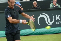 Richard Gasquet whacks a forehand shot