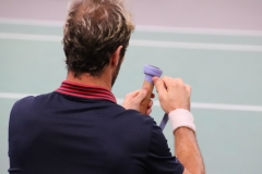 Richard Gasquet's famous grip changing routine