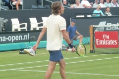 Stefanos Tsitsipas lost his shoe