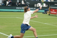 Stefanos Tsitsipas reaches to return