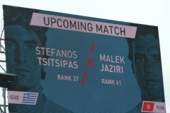 Stefanos Tsitsipas vs Malek Jaziri match announcement