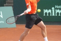 Thiemo de Bakker attacking with his forehand