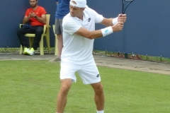 Tim Smyczek backhand warm-up