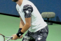 Nikoloz Basilashvili awaits serve