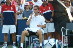 Albert Ramos Vinolas during a break