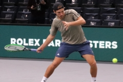 Lucas Pouille hits a forehand