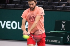 Gilles Simon hits a backhand