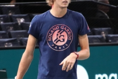 Alexander Zverev during warm-up