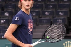 Alexander Zverev looking towards the stands