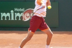 Yannick Maden attacks on the forehand side